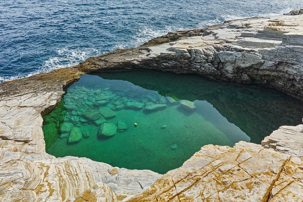 Giola Natural Pool Thassos Island Greece