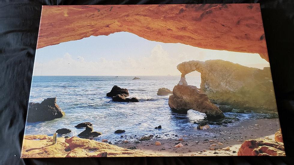 20 * 30 Canvas Print Sunset Arch Avila Beach