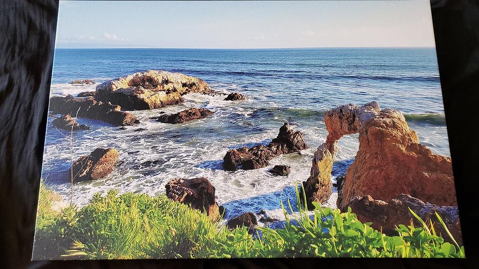 20 * 30 Canvas Print - Coastal Arch Ocean Avila Beach