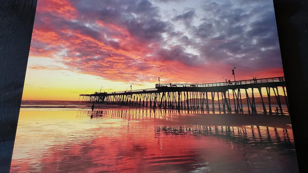 Metal 16 * 20 Pismo Beach Sunset Shot