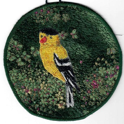 #84 Thread painted bird #1667