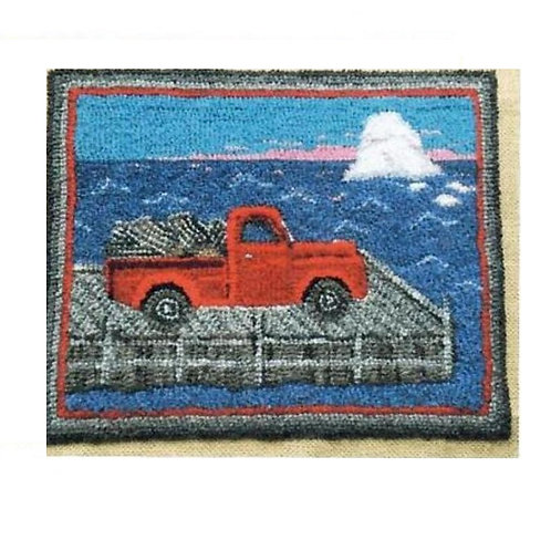 #66 Pattern Red Truck with Lobster Pots