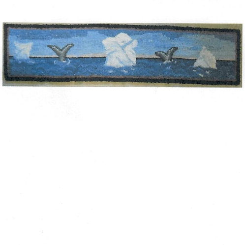 """#66 Pattern Door Topper """"Whale's Tails & Iceberg"""""""