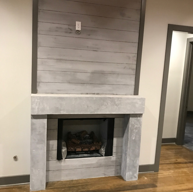 Vertical Concrete - Fireplace