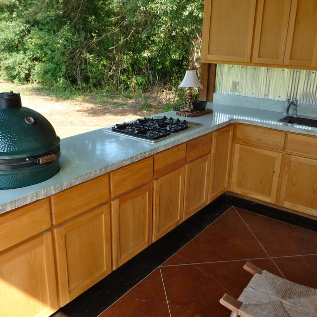 Concrete Countertops in an Outdoor Kitchen