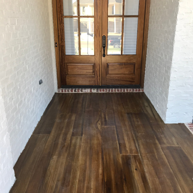 Stained floor, wood look