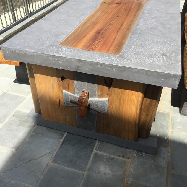 Concrete Table at Highland Village