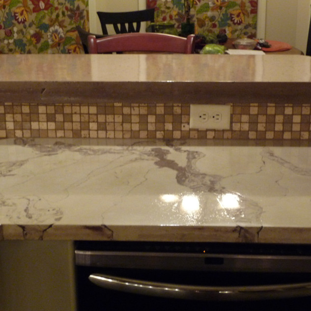 Concrete Countertop with Marble Look