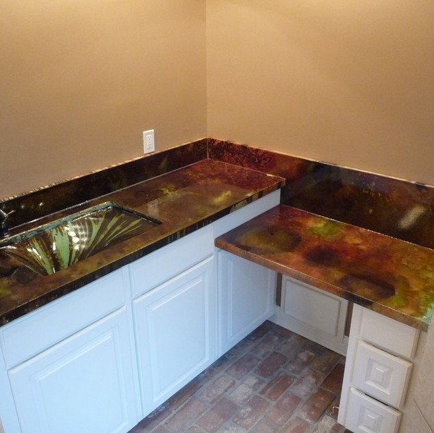 Concrete Countertop with Built-in Sink