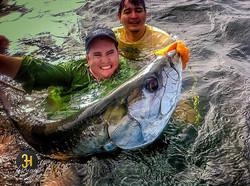 Pescaria de Tarpon em Trinidad