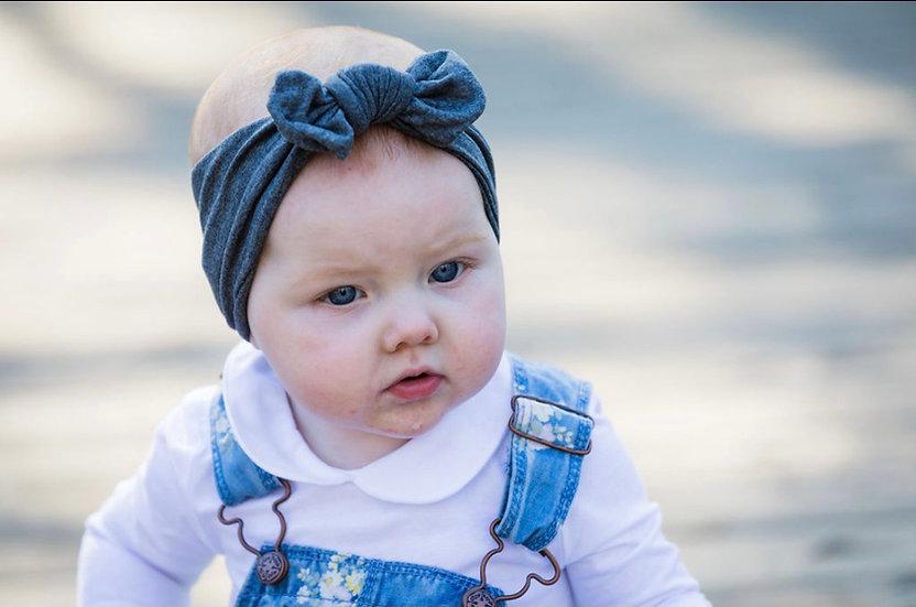 Heathered Gray Baby Headband