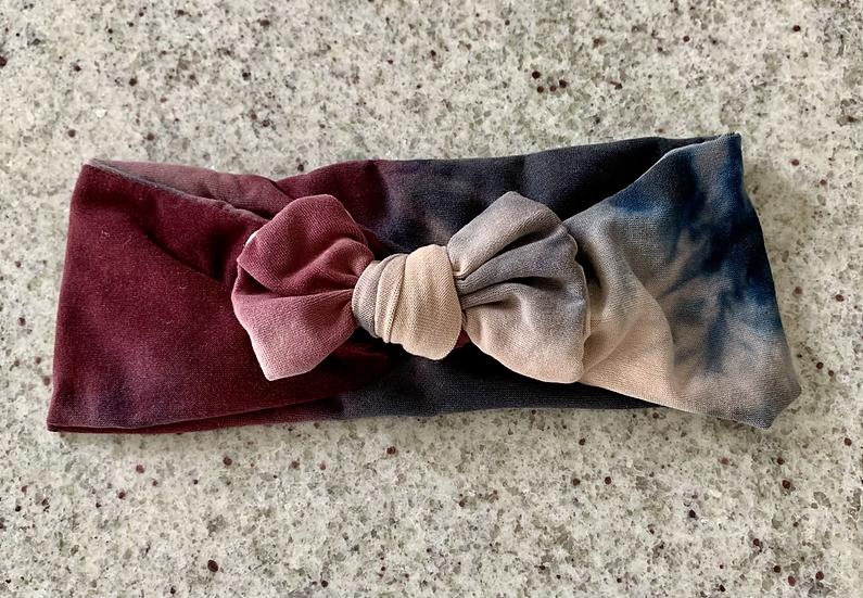 Plum Tie-Dye Baby Headband