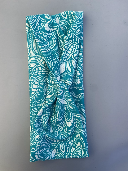 Bright Turquoise Paisley