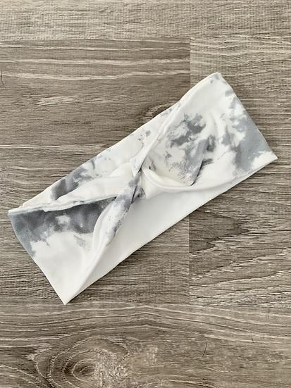 Gray & White Tie-dye