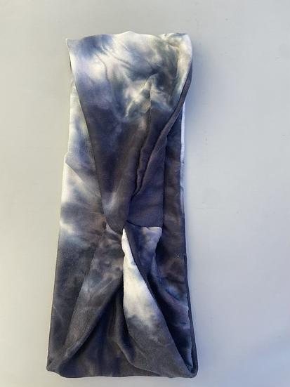 Gray & Blue Tie-die