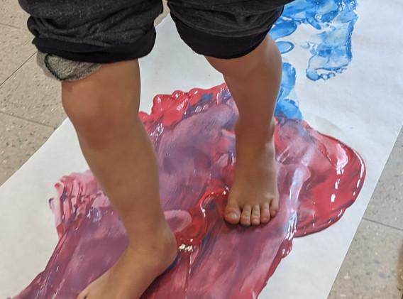 Threes Class - Walking through Paint