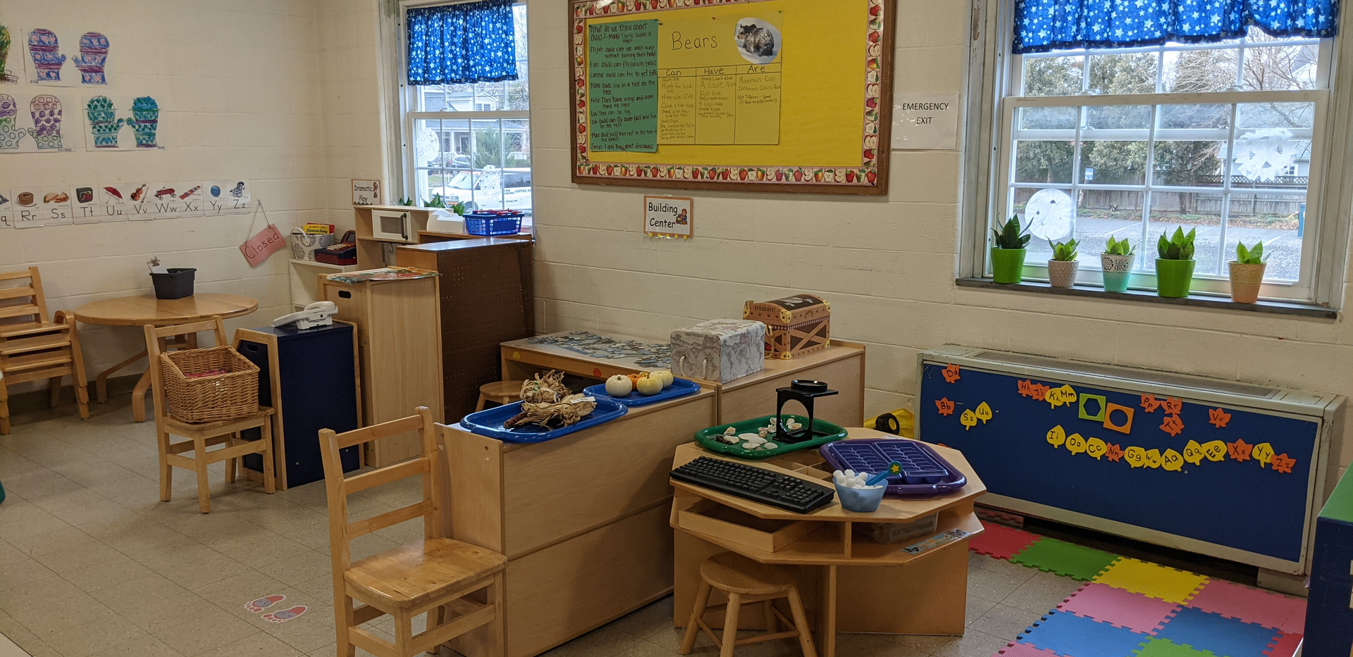 Pre-K Science Center and Building Center Pods