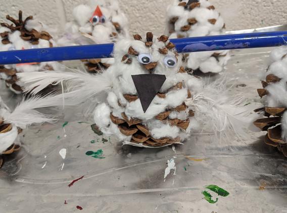 Pre-K Art - Owls