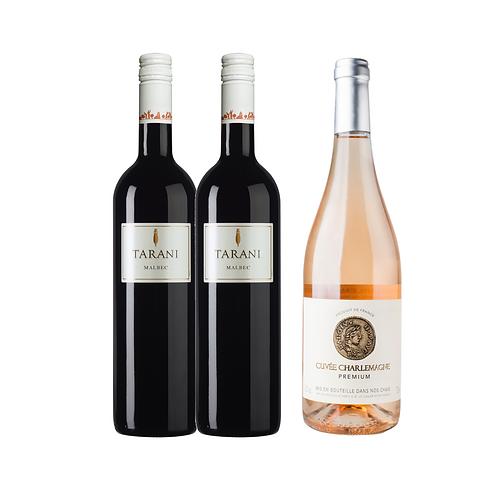Compre 2 Tarani Cahors e Ganhe 1 Cuvée Charlemagne Rosé