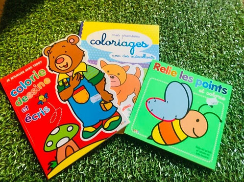 Lot de coloriages pour jeune enfant