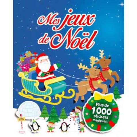 Lot de cahiers d'activités avec autocollants pour préparer Noël