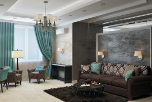 Alt tag: A living room with well-matched accessorizing in interior design