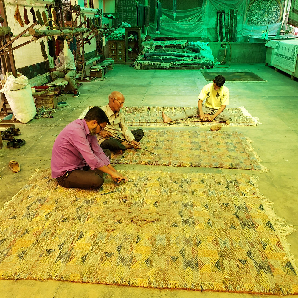 Hand crafted carpet