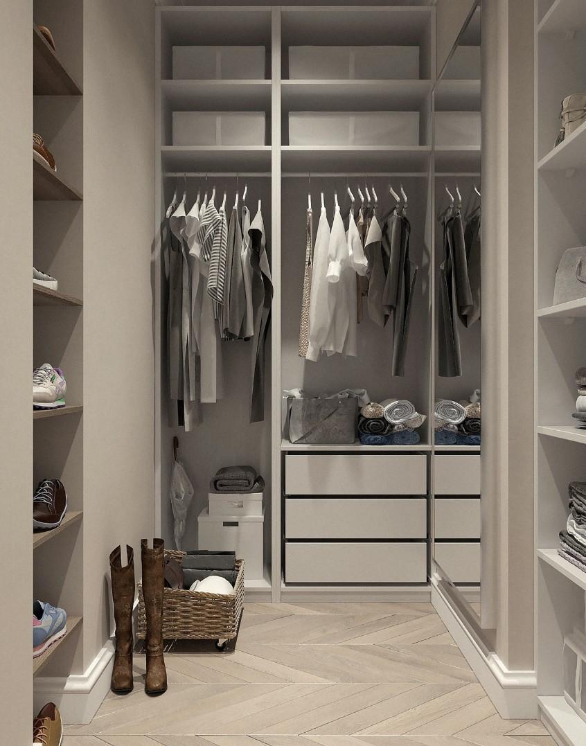 A very organized closet.