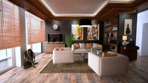 living room well accessorized