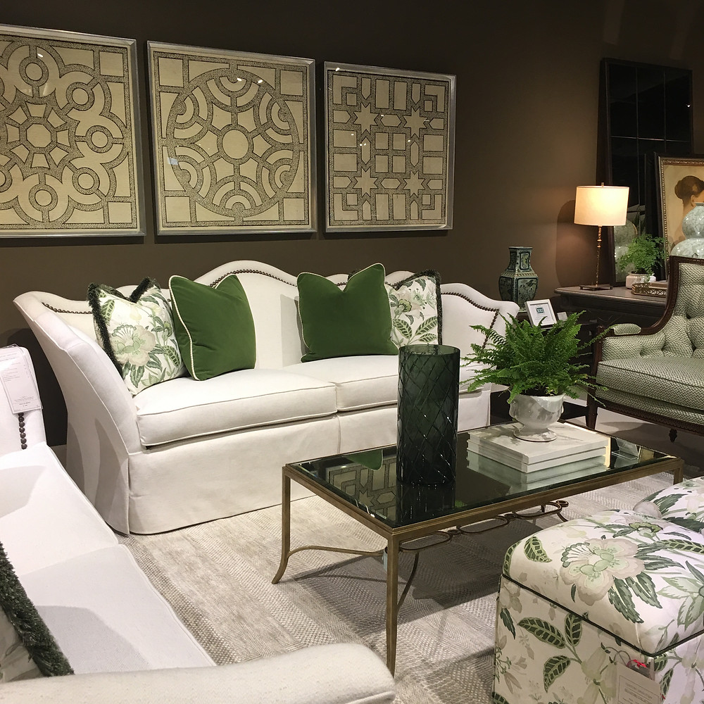 Green accents in design