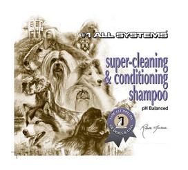 #1 All Systems Super Cleaning & Conditioning Shampoo in 16oz and gallon sizes.