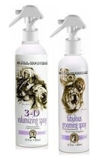 Grooming Sprays by #1 All Systems for adding shine and volume