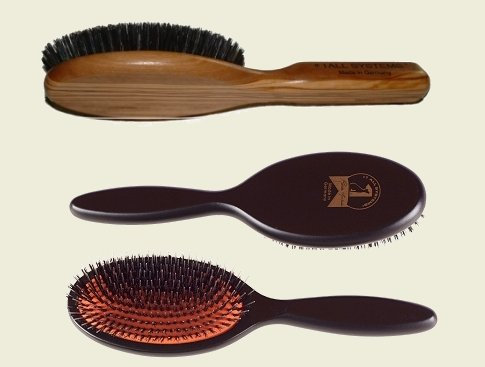 Pure boar bristle brush and bristle brush with nylon pins are both designed by #1 All Systems