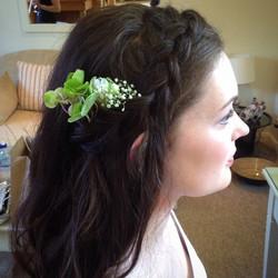 Bridesmaid hair and makeup