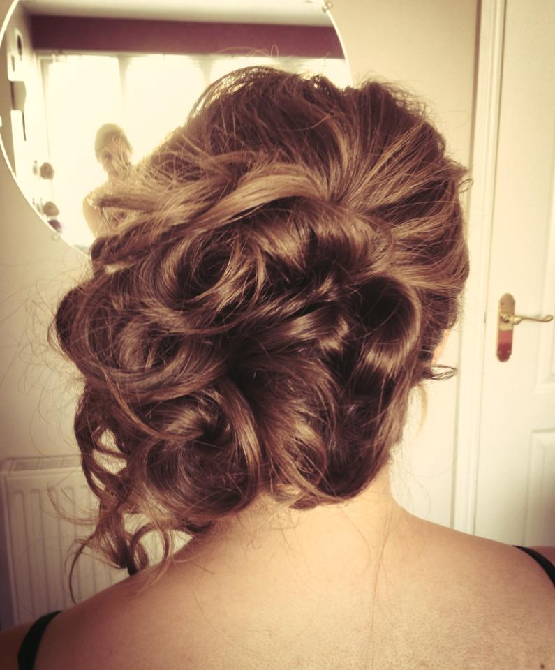 Bride hair up