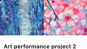 """配信限定公演Art performance project 2「求める青と、与える赤、と」""""Seeking blue and Giving red and more"""""""
