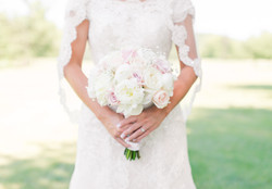 Sutherland Wedding- lace dress with pink