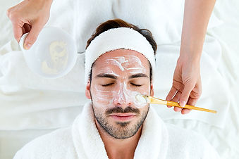 The Gentlemans Facial meets the needs and challenges of a man's skin. Ideal for all skin types, this facial balances,purifies, and restores. Our Gentlemen's Facial provides a customized treatment that includes deep pore cleansing, exfoliation, extractions, and a soothing masque.