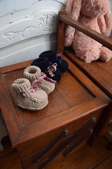 Chaussons naissance Tricot
