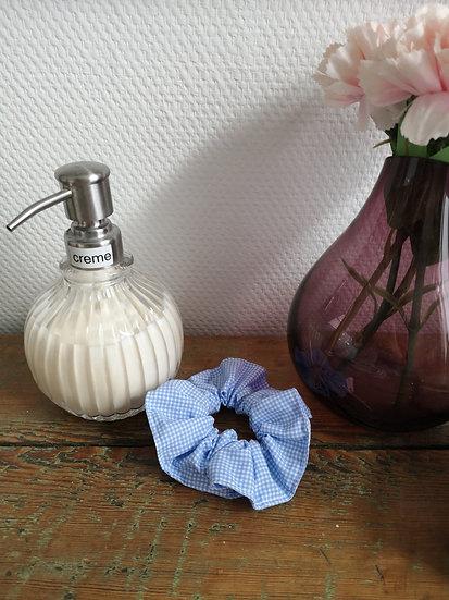 Chouchou vichy bleu
