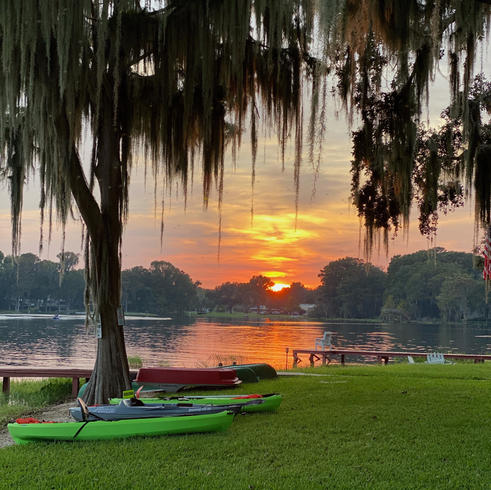 Sunset after a long day kayaking
