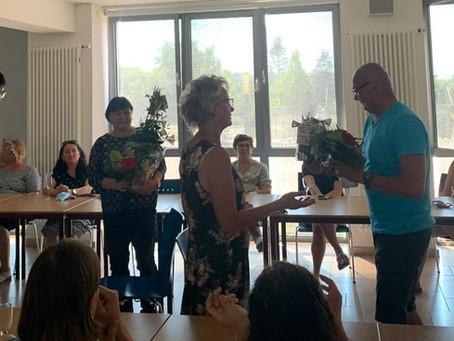 Feierliche Verabschiedung von Frau Lindenau und Herrn Buschewski