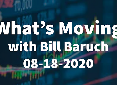 What's Moving | Amazon Chart Action | Apple Bull Flag | Nasdaq Volume Area | China | Bill Baruch