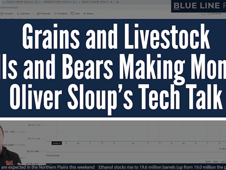 Grains and Livestock | Bulls and Bears Making Money? | Oliver Sloup's Tech Talk