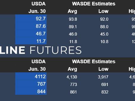 USDA's Acreage and Grain Stocks Headline Numbers   06-30-2021