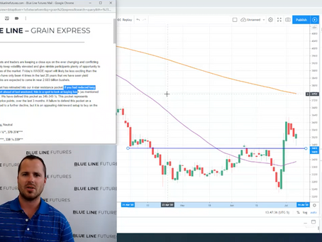 Tech Talk - the trade in the corn and wheat market