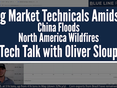 Ag Technicals Amidst China Flooding and Wildfires in North America | Tech Talk with Oliver Sloup