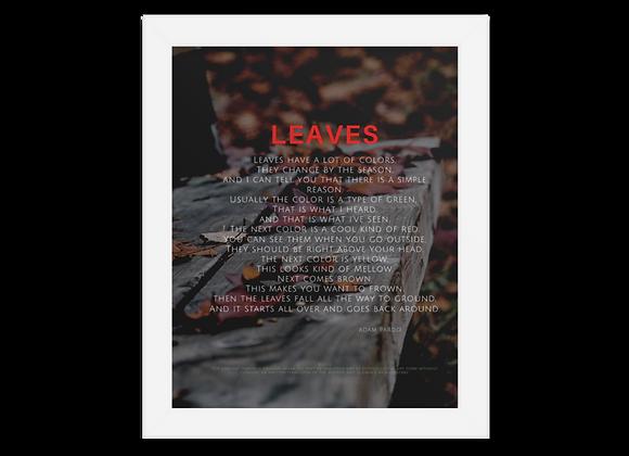 """""""Leaves"""" Framed poster"""
