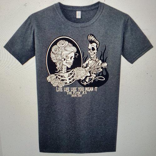 Men's Skull Heather Grey Tshirt