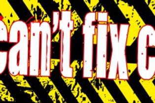 NEW! Bumper Sticker- You Can't Fix Crazy